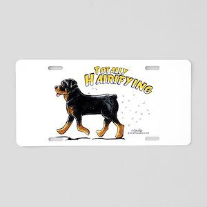 Rottweiler Hairifying Aluminum License Plate