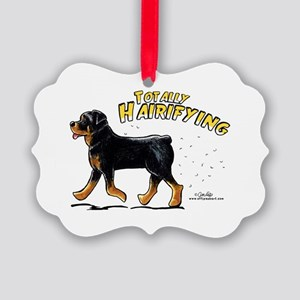Rottweiler Hairifying Picture Ornament