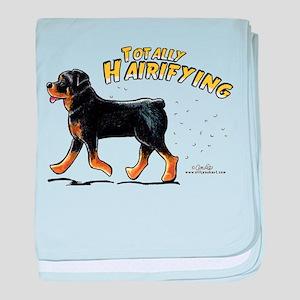 Rottweiler Hairifying baby blanket