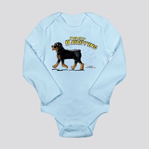 Rottweiler Hairifying Long Sleeve Infant Bodysuit