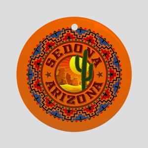 Sedona Desert Circle Ornament (Round)