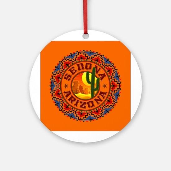 Sedona Desert Circle Ornament (Round)