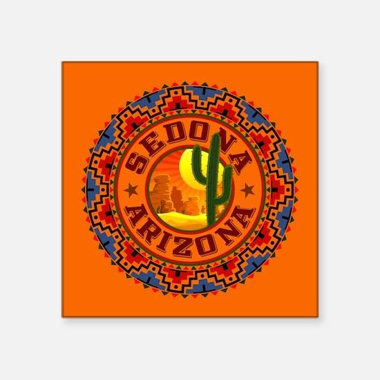 "Sedona Desert Circle Square Sticker 3"" x 3"""