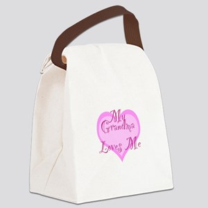 My Grandma Loves Me Canvas Lunch Bag