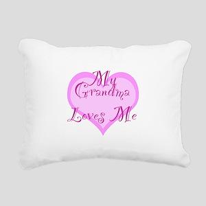 My Grandma Loves Me Rectangular Canvas Pillow