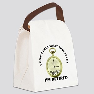 I'm Retired Canvas Lunch Bag
