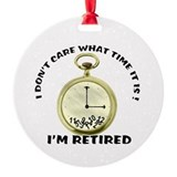 Retirement Round Ornament