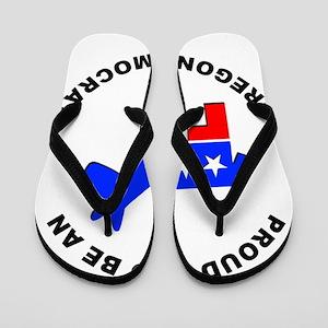 Oregon Democrat Pride Flip Flops