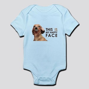Happy Face Dachshund Infant Bodysuit