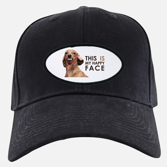 Happy Face Dachshund Baseball Hat