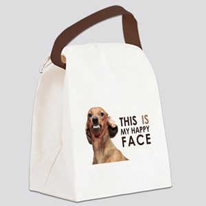 Happy Face Dachshund Canvas Lunch Bag