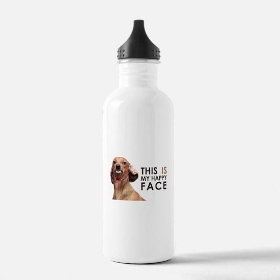 Happy Face Dachshund Water Bottle