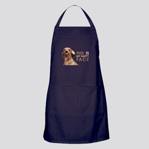 Happy Face Dachshund Apron (dark)