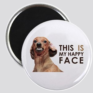 Happy Face Dachshund Magnet