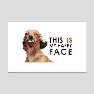 Happy Face Dachshund Mini Poster Print