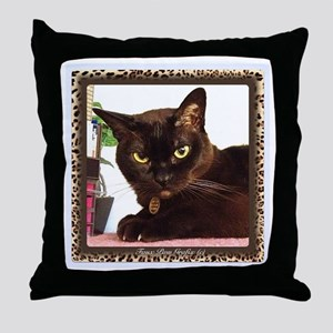 Cattitude Throw Pillow