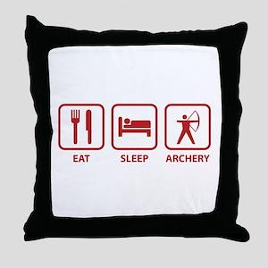 Eat Sleep Archery Throw Pillow