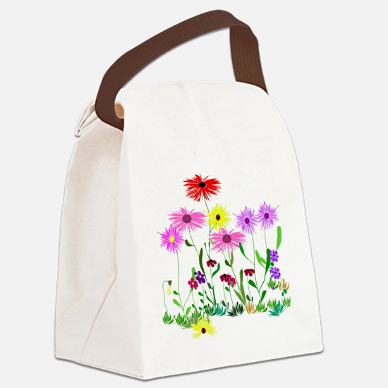 Flower Bunch Canvas Lunch Bag