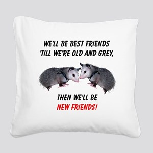 bestfriends4 Square Canvas Pillow