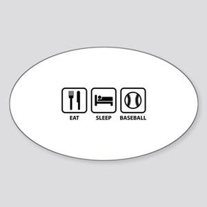 Eat Sleep Baseball Sticker (Oval)