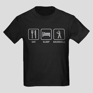 Eat Sleep Baseball Kids Dark T-Shirt