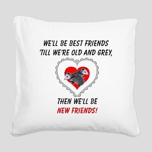 bestfriends3 Square Canvas Pillow