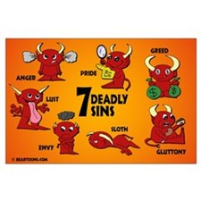 Seven Deadly Sins Large Poster