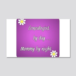 Genealogist by day Mommy by night 20x12 Wall Decal