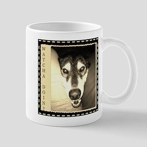 Inquiring Snow Dog Mug
