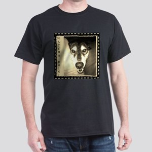 Inquiring Snow Dog Dark T-Shirt