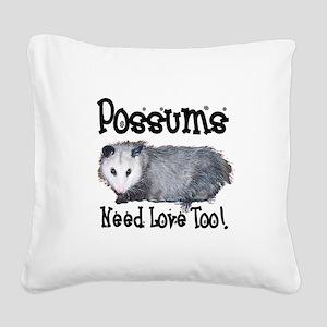possum33 Square Canvas Pillow