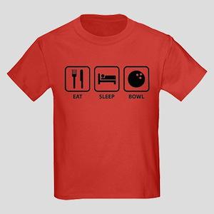 Eat Sleep Bowl Kids Dark T-Shirt