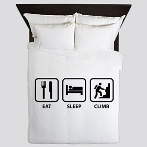 Eat Sleep Climb Queen Duvet
