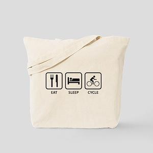 Eat Sleep Cycle Tote Bag