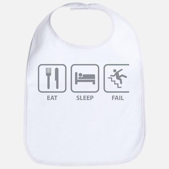 Eat Sleep Fail Bib