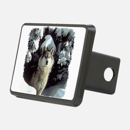 gray wolf Hitch Cover