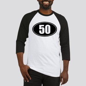 50 mile black oval sticker decal Baseball Jersey