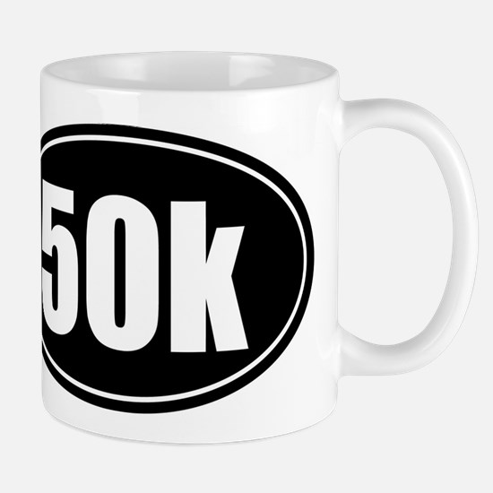 50k 31.1 black oval sticker decal Mug