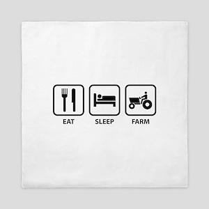 Eat Sleep Farm Queen Duvet