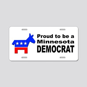 Minnesota Democrat Pride Aluminum License Plate