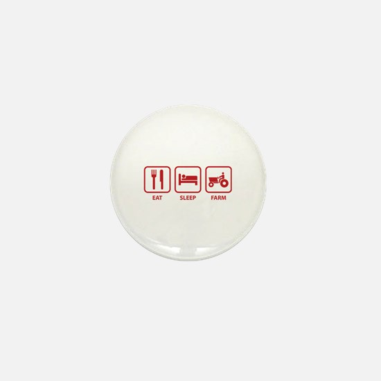 Eat Sleep Farm Mini Button