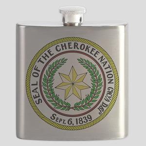 Seal of Cherokee Nation Flask
