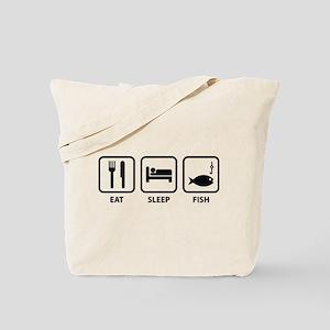 Eat Sleep Fish Tote Bag