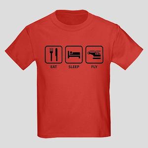 Eat Sleep Fly Kids Dark T-Shirt