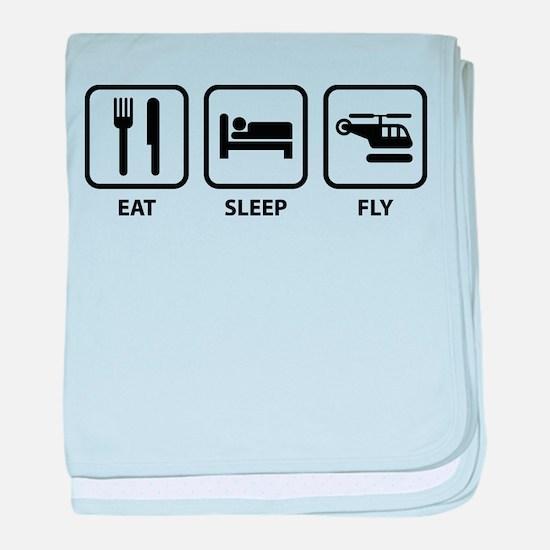 Eat Sleep Fly baby blanket