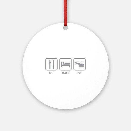 Eat Sleep Fly Ornament (Round)