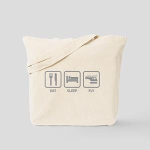 Eat Sleep Fly Tote Bag