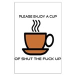 Enjoy a cup... Large Poster