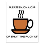 Enjoy a cup... Small Poster