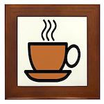 Enjoy a cup... Framed Tile